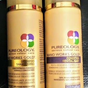 Pureology Nano Works Gold Sham/Cond Set Brand New